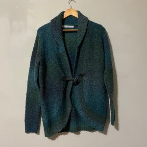 Woolrich Fleece Green shades Open Cardigan size M